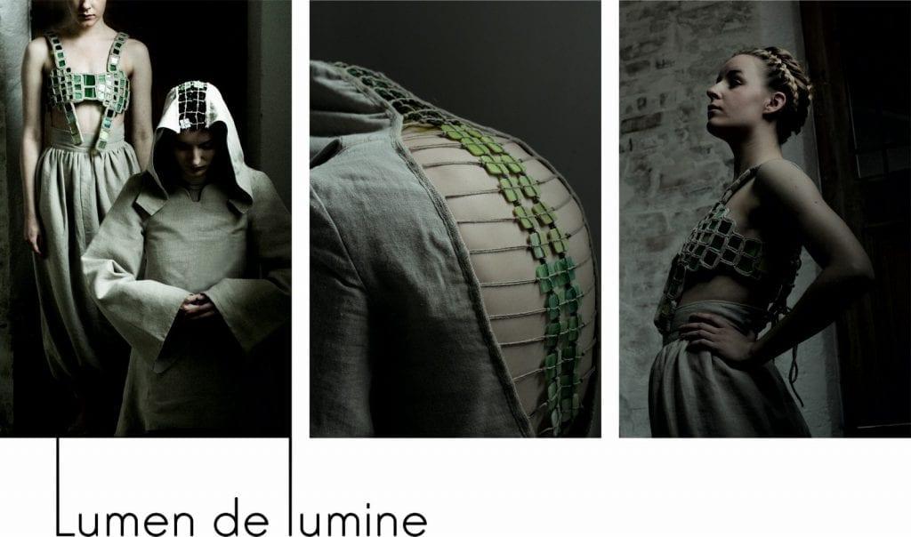 Postacie kobiet w ubiorach inspirowanych Średniowieczem.