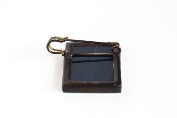 Dzikie Twory - broszka ze znaczkiem pocztowym pointer tył