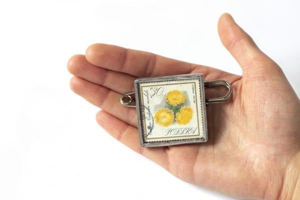 Dzikie Twory - wielkość broszki ze znaczkiem pocztowym centuria