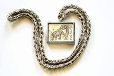 Dzikie Twory - naszyjnik ze znaczkiem pocztowym słonie zoo