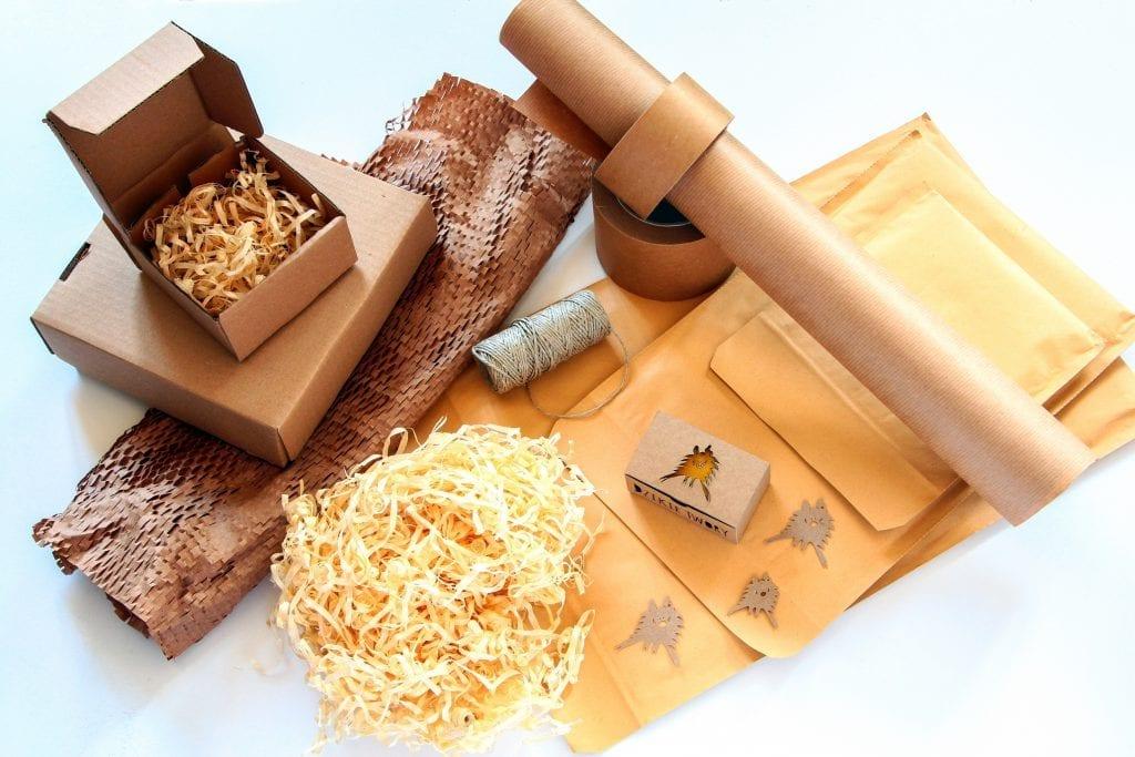Dzikie Twory - materiały używane podczas pakowania przesyłek