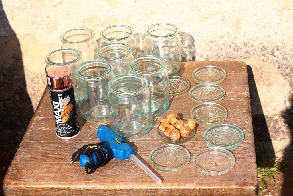 Dzikie Twory - przygotowania do wykonania słoiczków z miedzianą pokrywką