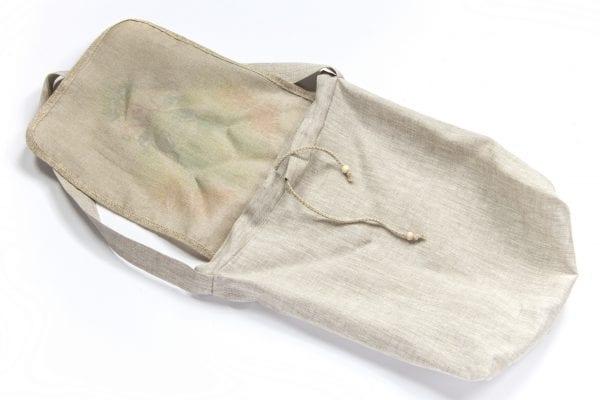 Dzikie Twory - lniana torba na zakupy z akwarelowym nadrukiem z motywem roślinnym spód