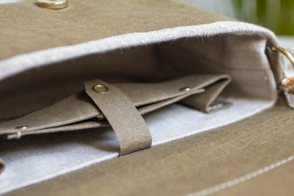 Dzikie Twory - kieszonki wewnątrz małej torebki z hipopotamem