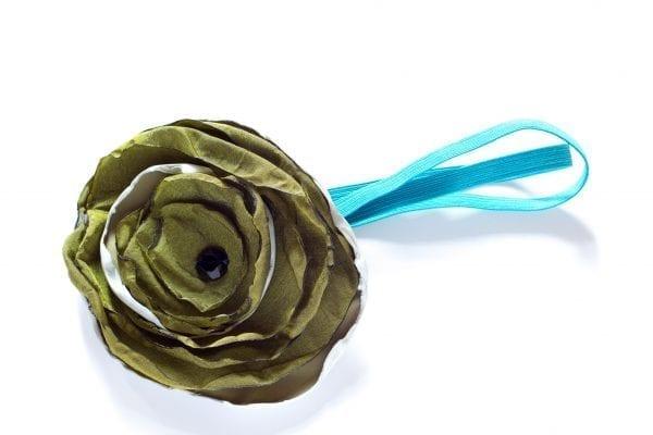 Dzikie Twory - opaska na włosy - z kwiatkiem10