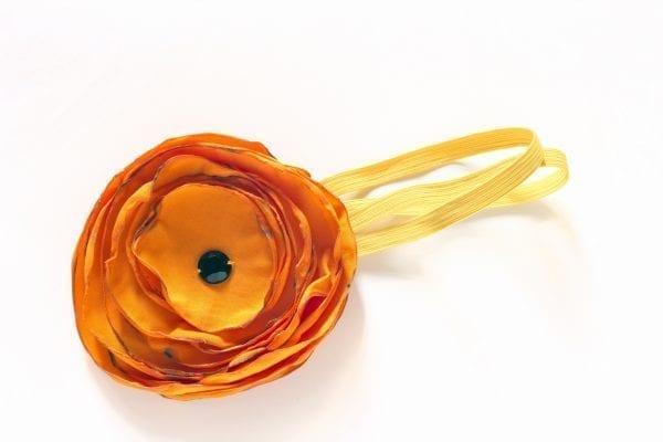 Dzikie Twory - opaska na włosy - z kwiatkiem15