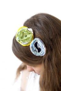 Dzikie Twory - opaska na włosy - z kwiatkiem16