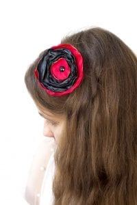 Dzikie Twory - opaska na włosy - z kwiatkiem17
