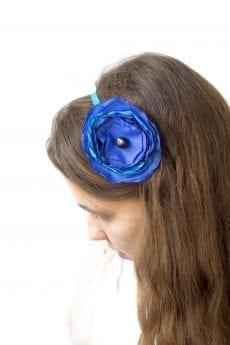 Dzikie Twory - opaska na włosy - z kwiatkiem21