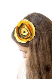 Dzikie Twory - opaska na włosy - z kwiatkiem23