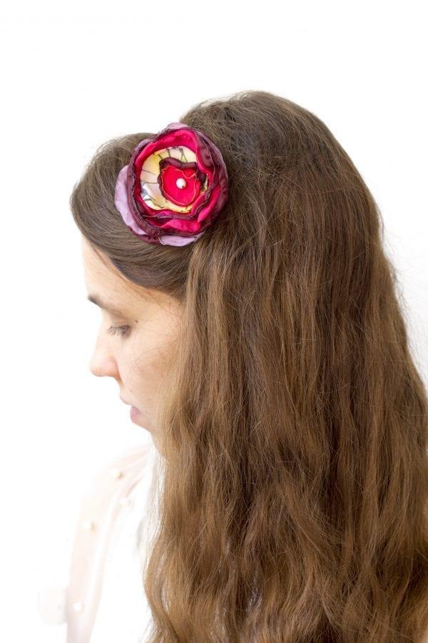 Dzikie Twory - opaska na włosy - z kwiatkiem34