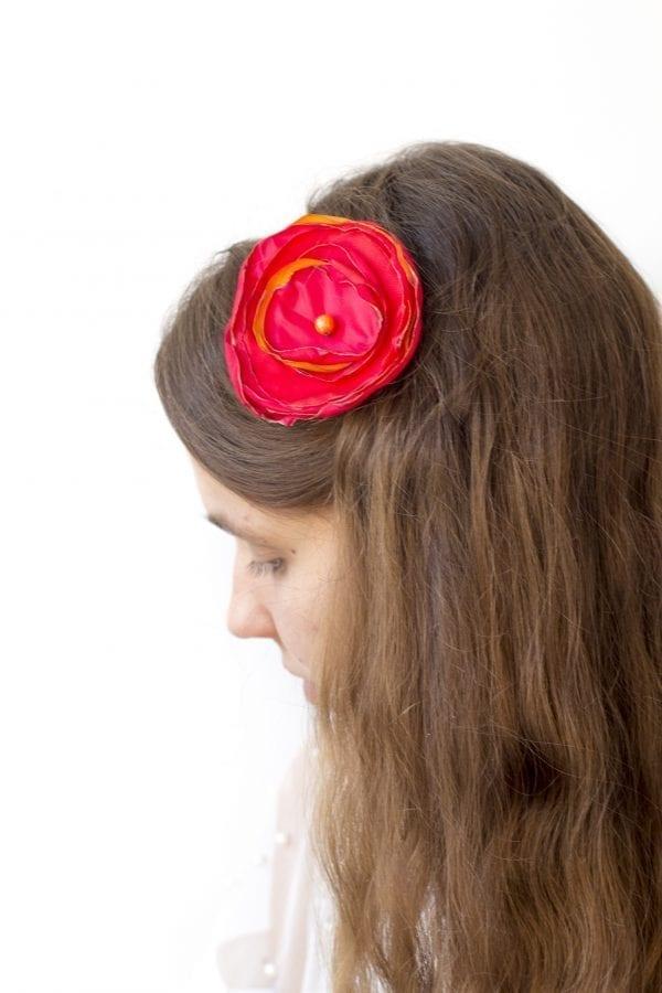 Dzikie Twory - opaska na włosy - z kwiatkiem37
