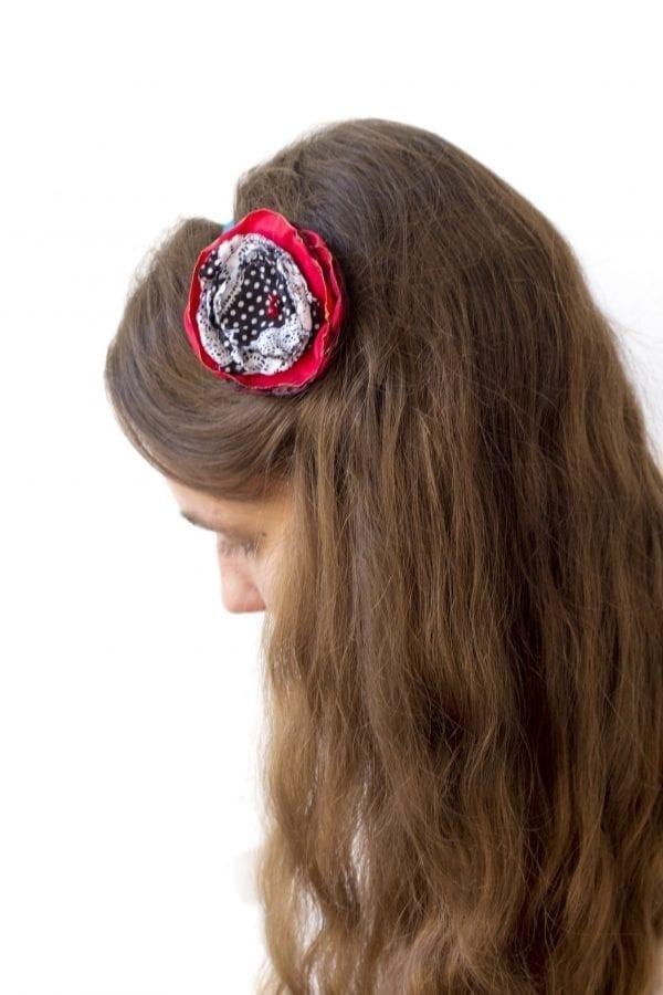 Dzikie Twory - opaska na włosy - z kwiatkiem38