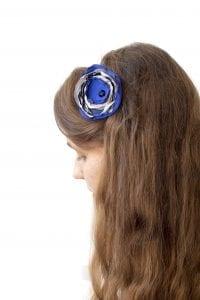 Dzikie Twory - opaska na włosy - z kwiatkiem39