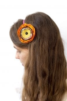 Dzikie Twory - opaska na włosy - z kwiatkiem40