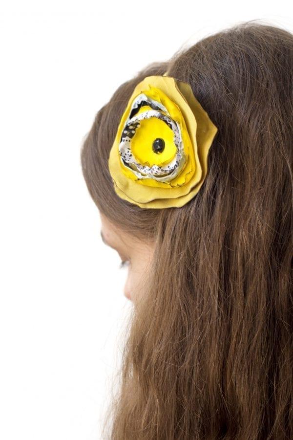 Dzikie Twory - opaska na włosy - z kwiatkiem6